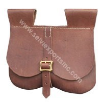 Leather Brown Suede Pouch