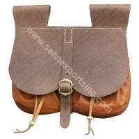 Medieval Renaissance Leather Brown Pouch