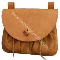 Medieval Brown Leather Pouch