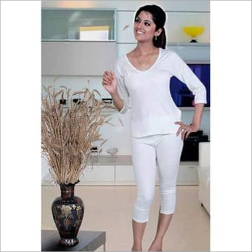 Ladies Thermal White Winter Suit