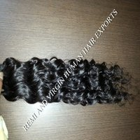 100% Natural Curly Human Hair Weft For Sale