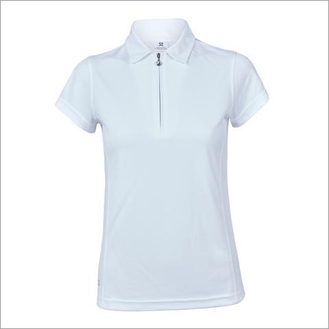 Women Zip Polo T-Shirt
