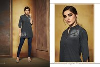 Fancy Designer Denim Kurtis