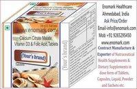 Calcium Citrate Malate, Vitamin D3, Folic Acid Tablet
