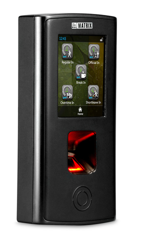 Fingerprint and RF Card based Door Controller -Touch Screen, PoE, Wi-Fi