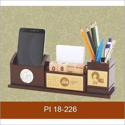 wooden desktop items