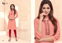 Hand Work Cotton Kurtis