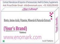 Biotin, Amino Acid, Vitamins Minerals & Naturals Extracts