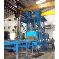 4 Wheel Roller Conveyor Ms/Ss Plate Cleaning Shot Blasting Machine