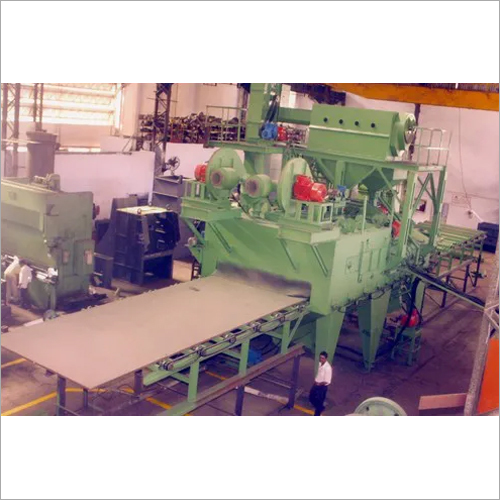 6 Wheel Roller Conveyor Plate Cleaning Shot Blasting Machine