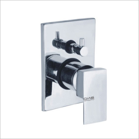 Single lever concealed divertor for bath and shower system