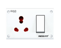 Press Fit Gold 3-in-1 6/16 Amp. S.S. Combined Universal Socket