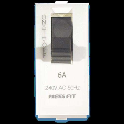 Press Fit Edge Single Pole Mini MCB Switch