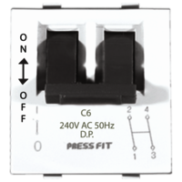 Press Fit Edge Double Pole MCB