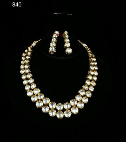 Designer Party Wear Kundan Meena Necklace Set