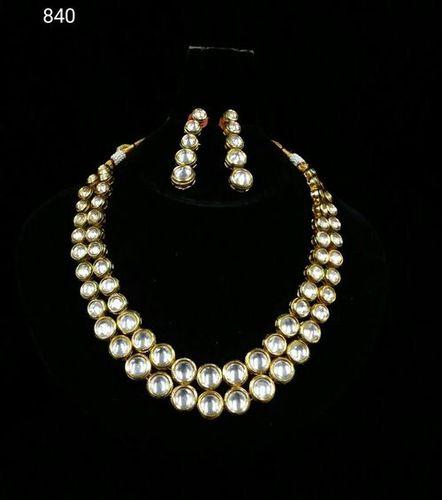 Designer Party Wear Kundan Meena Necklace Set