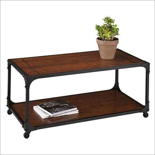 Wood Metal Coffee Table