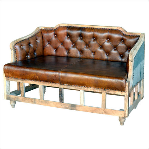 Leather Double Seater Sofa