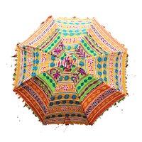 Rajasthani Cotton Banjara Work Fashion Sun Umbrellas