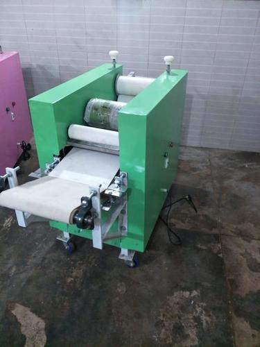 "PANI PURI 10"" ROLLER MACHINE WITH DOUBLE BELT"