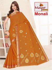 Women Wear Embroidery Saree