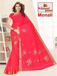 Cotton Embroidery Saree MAnufacturer