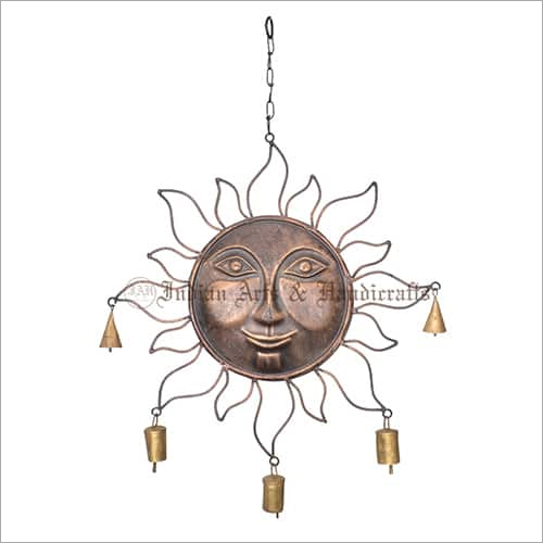Sun Face Iron Wind Chime