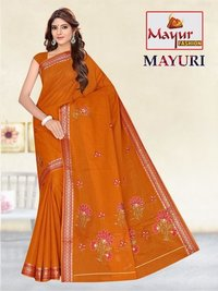 Mayur fancy Cotton Work Saree