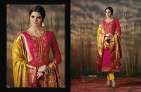 Punjabi Hand Work Silk Suits