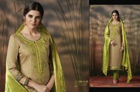 Punjabi Hand Work Silk Suits
