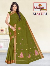 Cotton Work Saree Suppliers
