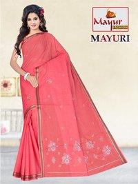 Mayuri Cotton Work Saree