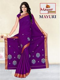 Indian Cotton Work Saree
