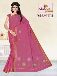 Cotton Dyed Work Saree