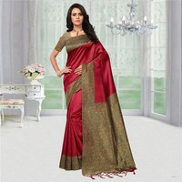 Plain Mysore Silk Stylish Party Wear Saree