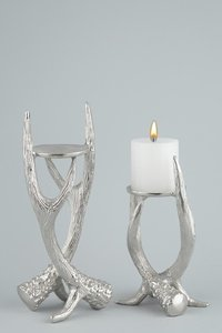 MODERN ANTLER CANDLE PILLAR HOLDER