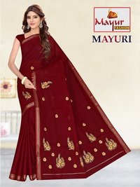 Pure Cotton Work Saree