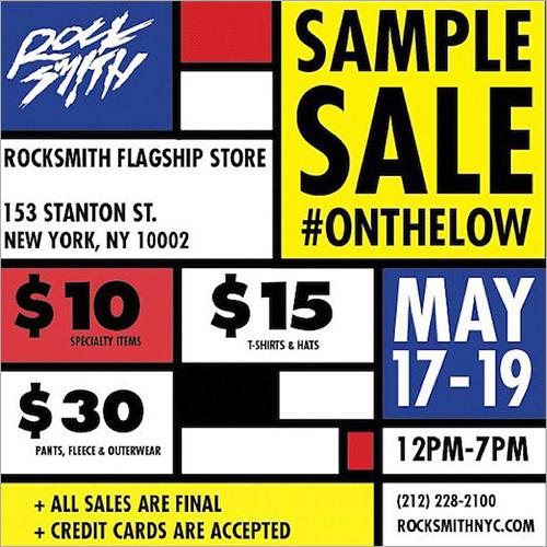 Rock Smith Sample Sale