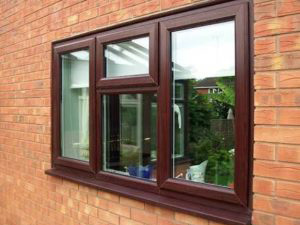 UPVC Wooden Finish Window