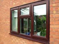 uPVC Wooden Finish Window