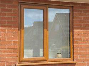 UPVC Wooden Texture Window