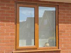 uPVC Wooden Texture Window