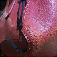 Footwear Plain PVC Leather