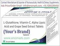 L-Glutathione, Vitamin-C, Alpha Lipoic Acid and Grape Seed Extract