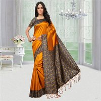 Plain Festive Wear Silk Saree