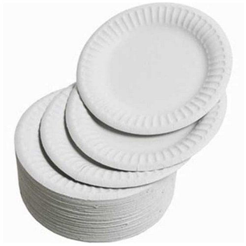 White Paper Plate