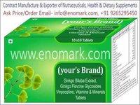 Ginkgo Biloba Extract, Ginkgo Flavone Glycosides, Vinpocetine, Vitamins & Minerals