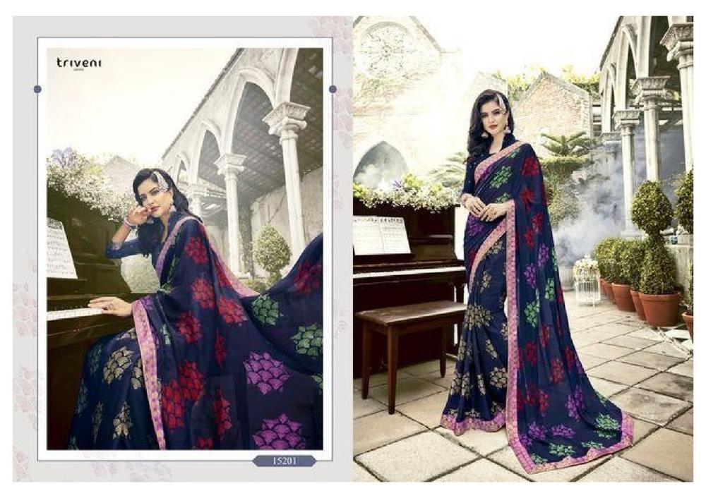 Chiffon Printed Sarees