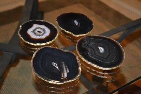 Black Agate Coasters