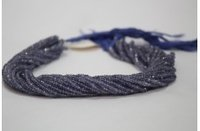 100% Natural AAA Iolite Faceted Rondelle Beads Strand 3-4mm